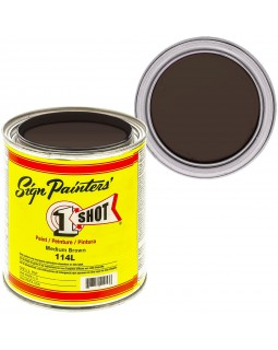 1-Shot ®️ Краска цвет 114 Medium Brown