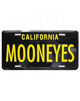 Номерной знак MOONEYES ™ California черно-желтый