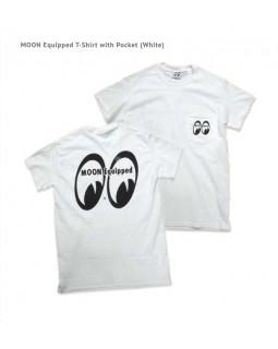 Футболка MOON Equipped ™ белая с кармашком