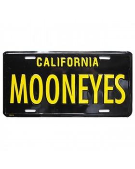 Номерной знак MOONEYES ™ California черно-желтый