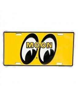 Номерной знак MOONEYES ™ желтый лого