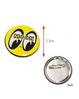 MOONEYES ™ значок круглый желтый