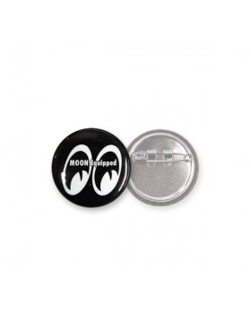 MOON Equipped ™ значок круглый черный