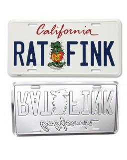 Номерной знак RAT FINK®️ белый California