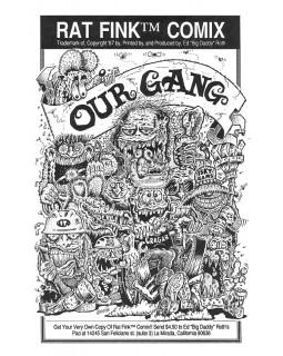 "Комикс Rat Fink®️ ""OUR GANG"""