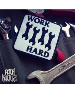 Патч Нашивка Work Hard (Black Flag)